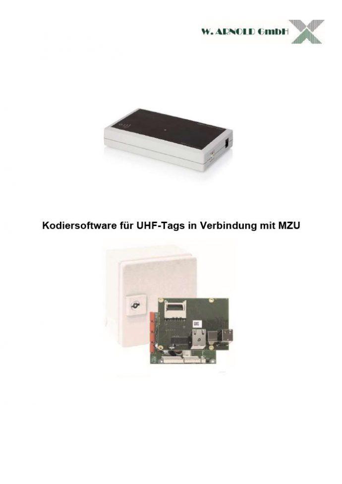 Anleitung UHF Coder - MZU