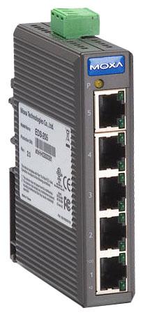 TCP/IP-Switch zur Montage auf der Hutschiene
