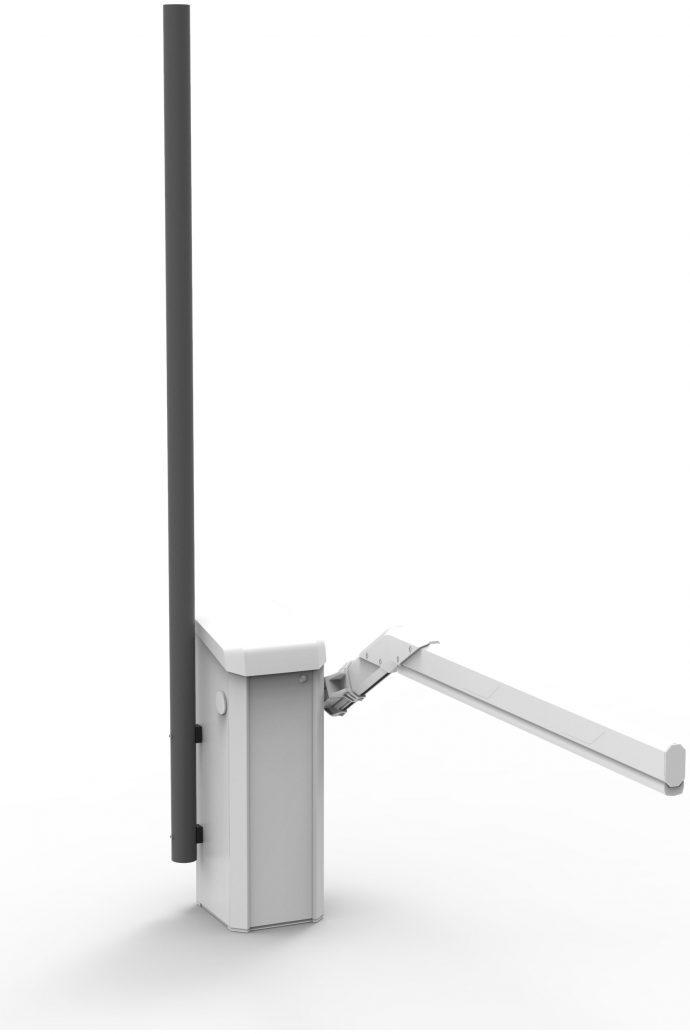 Mast zur Montage an einer Schranke inkl. Montagematerial