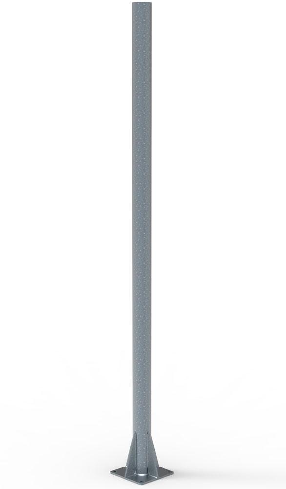 Mast mit 2,5 m Höhe zur Montage auf Fundament