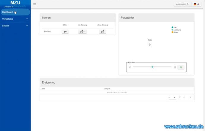 MZU Software - Dashboard