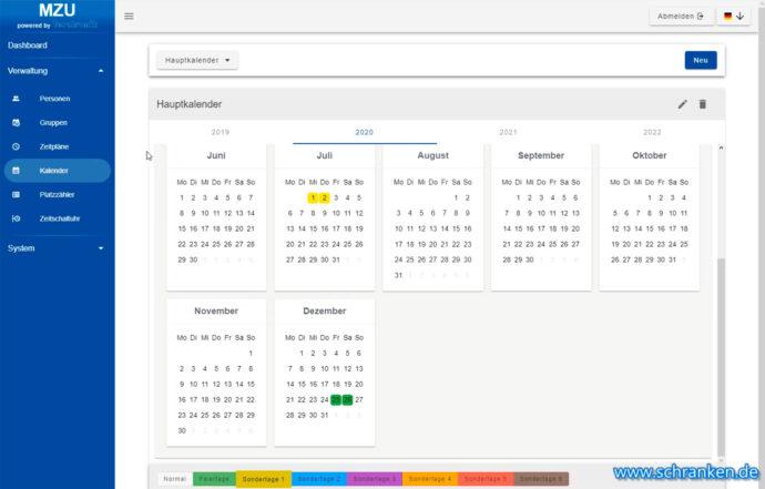 MZU Software - Kalender